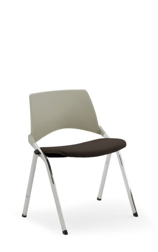 Pledge La Kendo Meeting Chair With 4 Leg Base With Upholstered Seat And Plastic Back
